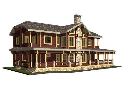 Дървени къщи лукс