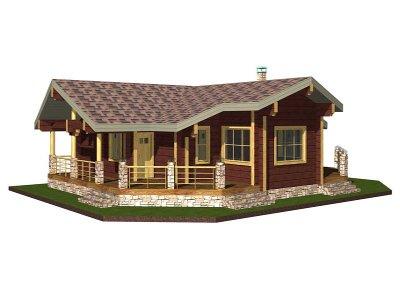 Дървени къщи едноетажни